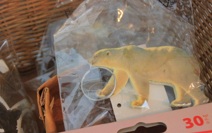Are there polar bears in Finland? Eva Hilden Museum sells polar bear keychains.