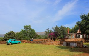 Burnt farm building in Makapansgat Valley World Heritage Site. Political issues hindering tourism in South Africa.
