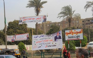 Egypt 2018 Presidential Election Posters of Abdel Fattah el-Sisi in Cairo.