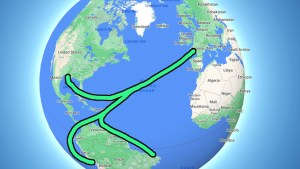 Freighter routes from Europe to America