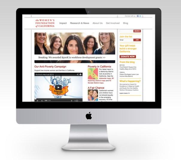 Women's Foundation of CA web design