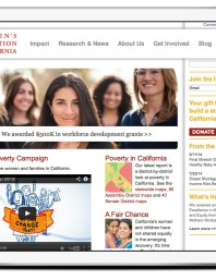 The Women's Foundation of California website