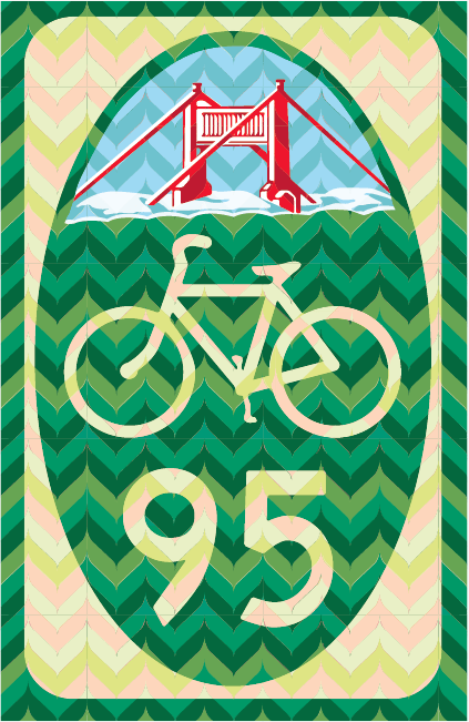 San Francisco Bike Route Sign