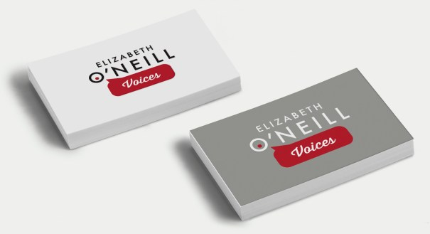 Elizabeth O'Neill Voices business card and brading design