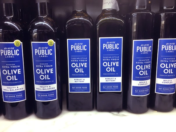 Bi-Rite Public Label design, olive oil packaging design