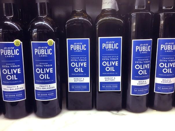 Bi-Rite Public Label design, olive oil packaging design