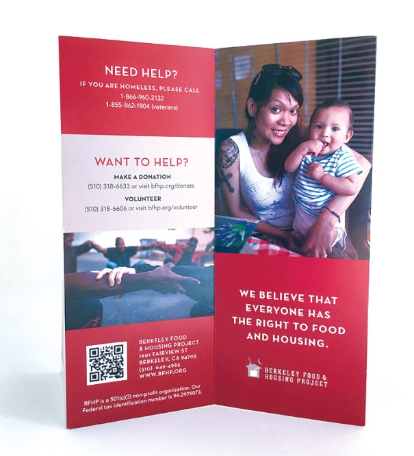 Berkeley Food and Housing Project general brochure design