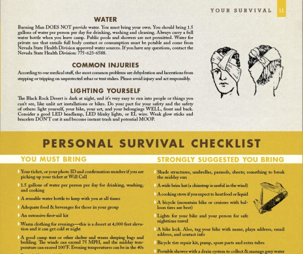 periodical design for Burning Man