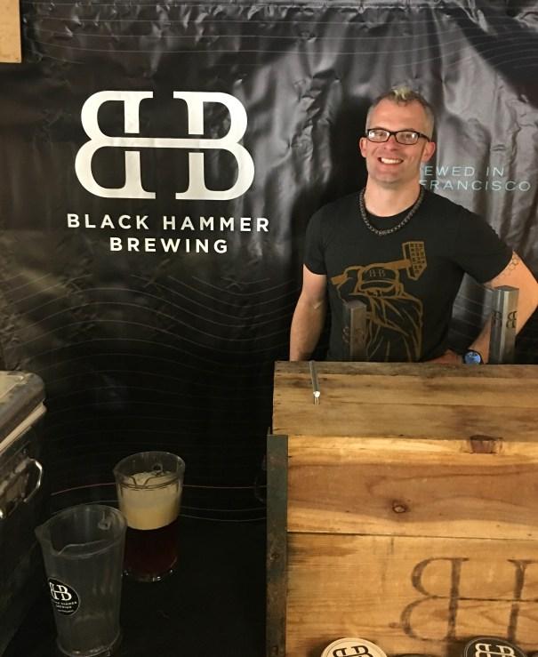 Black Hammer Brewing environmental design and branding for pop up