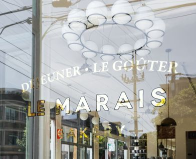 logo and branding for Le Marais Bakery in San Francisco's Castro district