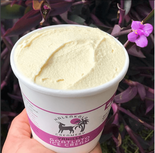 local maui ice cream from goat milk - package design