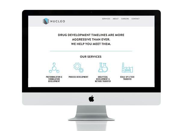 web design for Nucleo life sciences