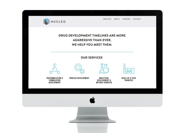 web design for Nucleo life sciences