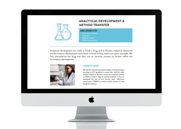 website design for Nucleo life sciences