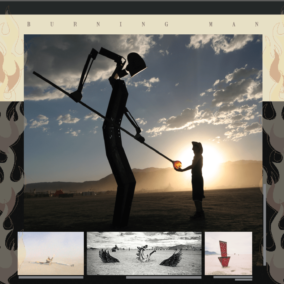 branding and design for Burning Man