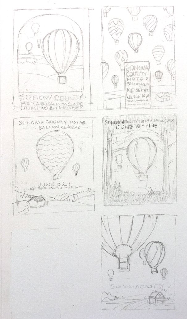 design concepts for hot air balloon poster