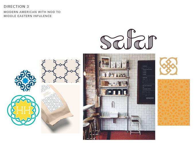 graphic design brand concept board