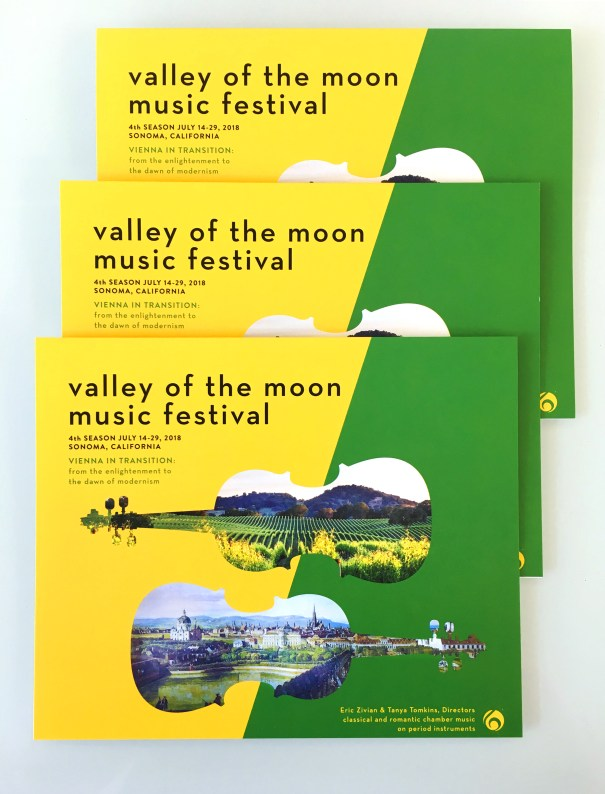 Music festival program and brochure design, sonoma california