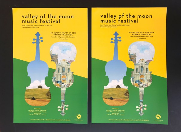 Music festival poster design, sonoma california