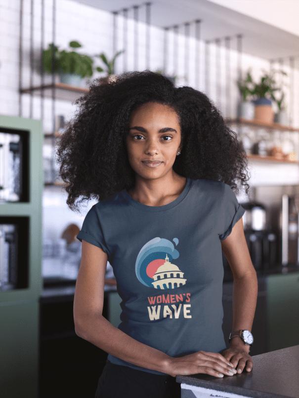 nonprofit logo design for feminist activists on women's march t-shirt design