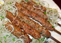 its kind of a kebab that they wrap it around a bread and serve it