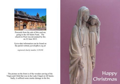 Christmas Card Design C (Statue of Virgin & Child)