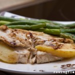 Apple, Goat Cheese and Fig Stuffed Chicken