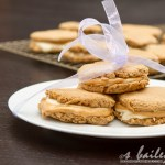 White Chocolate Peanut Butter S'mores Sandwich Cookies