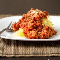"Spicy ""Spaghetti"" & Meat Sauce"
