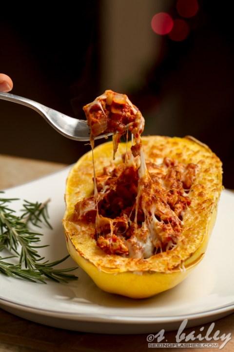 Spaghetti Squash Boats #glutenfree
