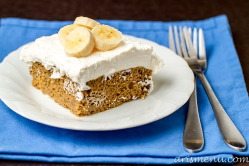 Skinnified Banana Bread Tres Leches Cake