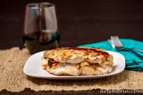 3 Ingredient Chipotle Goat Cheese Stuffed Chicken #glutenfree