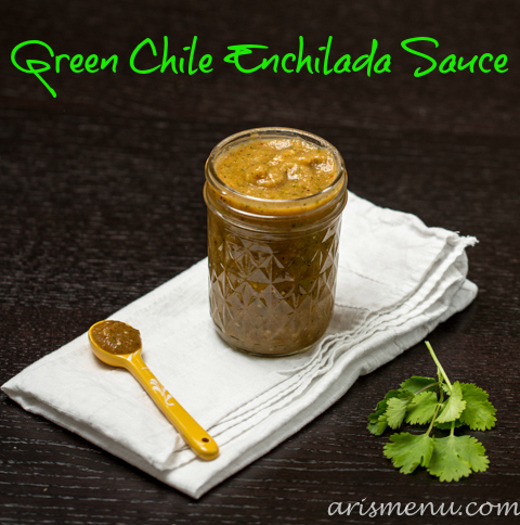 Green Chile Enchilada Sauce via www.arismenu.com