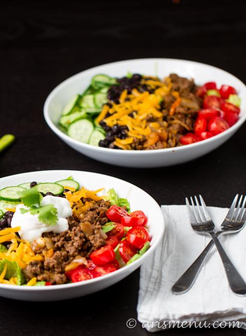 10 Minute Taco Salad via arismenu.com