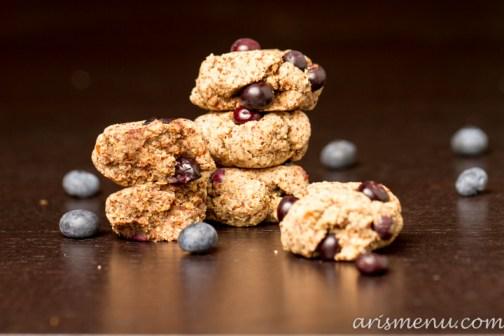 Blueberry Almond Meal Cookies #vegan #glutenfree