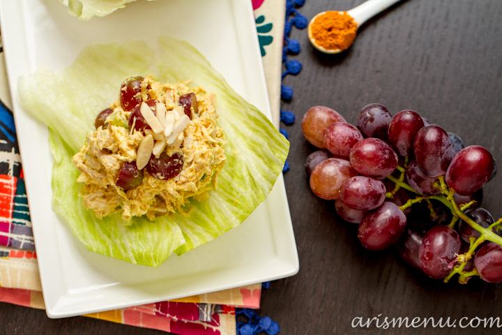 Curried Chicken Salad {without mayo}