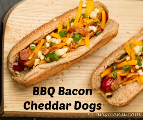 BBQ Bacon Cheddar Dogs
