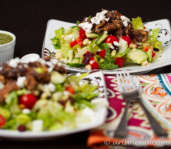 Black Bean Burger Salad with Cilantro Lime Vinaigrette