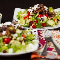 Black Bean Burger Salad