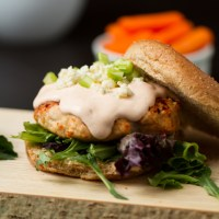Drink & Dish: Buffalo Turkey Burgers