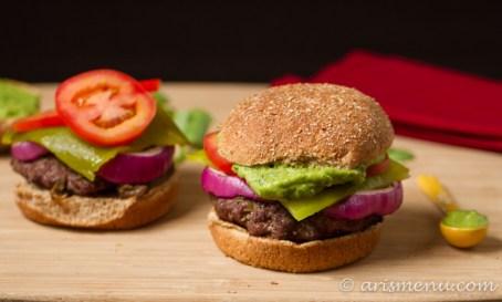 Green Chile Guacamole Burger