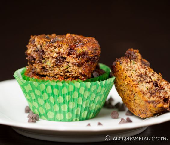 zucchinimuffins-19Chocolate Chip Zucchini Almond Meal Muffins #vegan #glutenfree