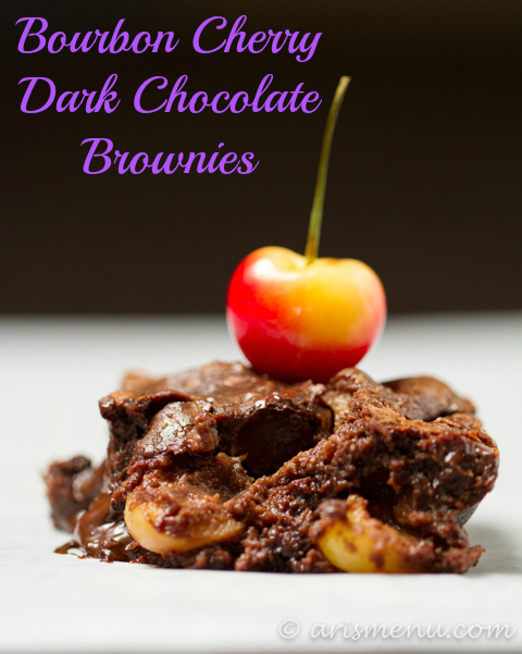 Bourbon Cherry Dark Chocolate Brownies
