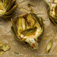 Lemon Rosemary Grilled Artichokes