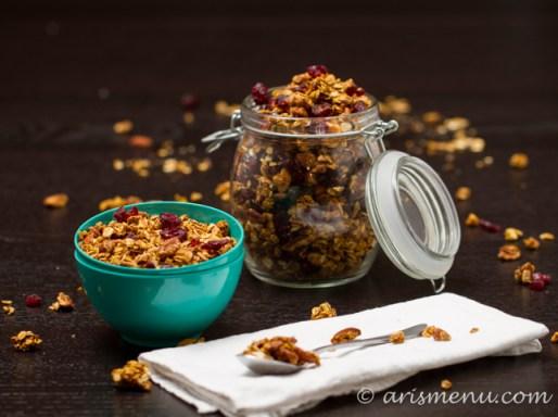 Pumpkin Pecan Granola #vegan #glutenfree