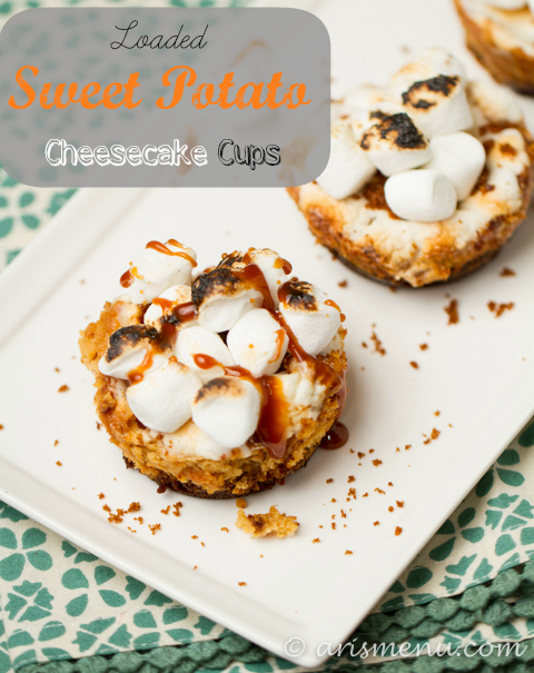 Loaded Sweet Potato Cheesecake Cups #glutenfree