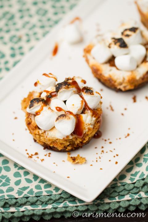 Loaded Sweet Potato Cheesecake Cups #glutenfree