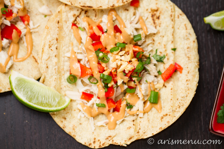 Thai Chicken Tacos - Ari's Menu