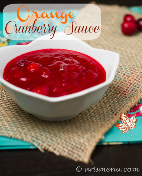 Orange Cranberry Sauce #vegan #glutenfree #thanksgiving