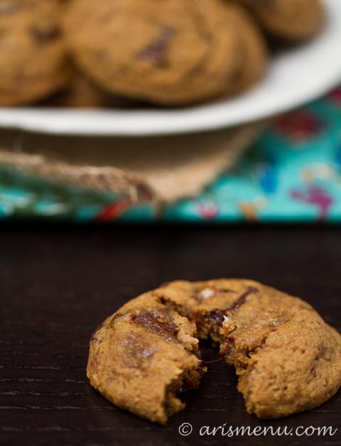 Pumpkin Chocolate Chunk Cookies #vegan #glutenfree